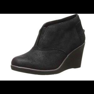 Sperry Harlow Brook's wedge booties leather 7.5
